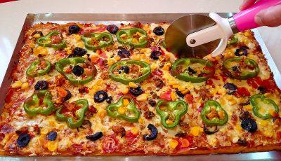 بيتزا حضريها ببيضة واحدة و بملعقتين دقيق فقط الأكلة السهلة و اللذيذة