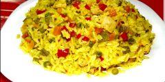 أرز بالخضر في 15 دقيقة كوجبة عشاء سريعة